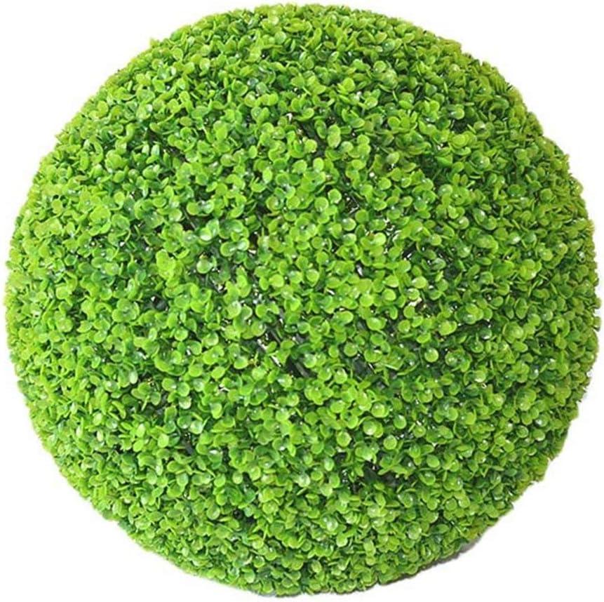 Yunhigh Bola Artificial de la Planta simulación de boj Decorativa Bola de Hierba Verde de plástico Globo Verde para el Centro Comercial de la Boda decoración del hogar de Navidad (2pcs, 22cm)