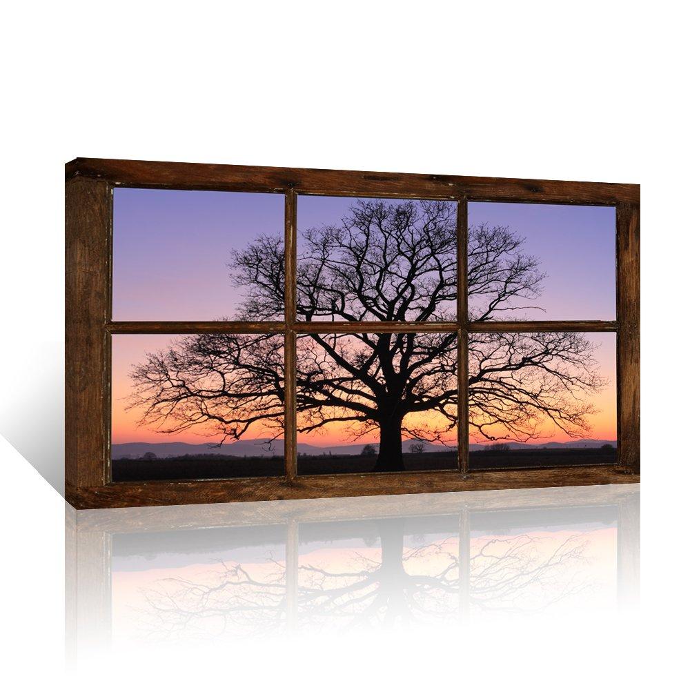 amazon com kolo wall art large retro vintage window frame style rh amazon com