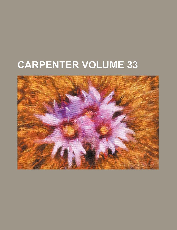 Download Carpenter Volume 33 ebook