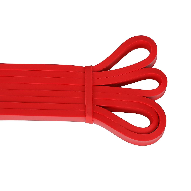 Rouge yoga Heavy Duty Sangle de bandes dexercice dentra/înement de fitness avec diff/érents de puissance pour r/ésistance Poids entra/înement Vipith Bandes /élastiques Prolonger la mobilit/é dexercice
