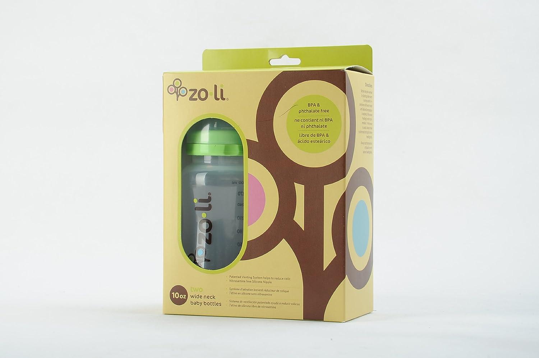 Amazon.com : Zoli Baby Baby Bottle with Anti Colic Nipples - 10 oz - 2 ct : Baby