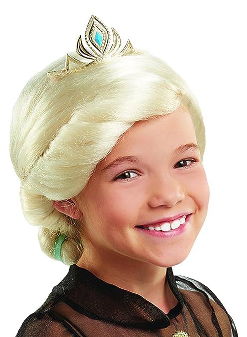 Frozen – Elsa La Reina De Hielo peluca con corona