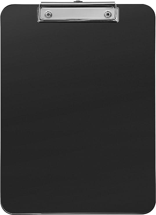 Klemmbrett A4 schwarz Schreibbrett mit Halterung Klemmmappe 23,5 x 32 cm Neu
