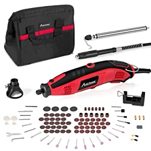 AVID POWER Rotary Tool Kit Variable Speed with Flex Shaft, 101pcs Accessories and Carrying Case for Grinding, Cutting, Wood Carving, Sanding, and Engraving