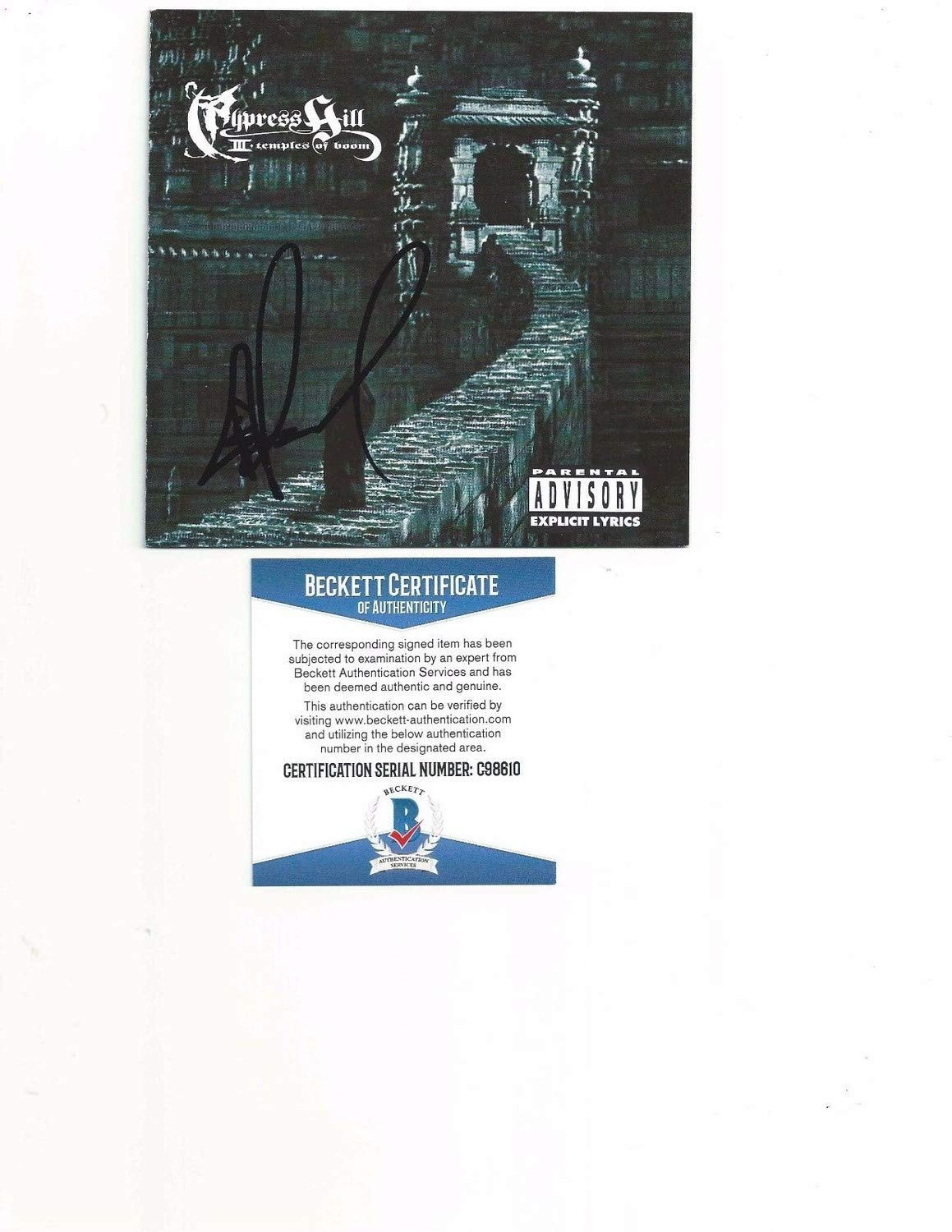 Cypress Hill B Real Autographed Signed Temples Of Boom Cd Booklet Beckett Authentic