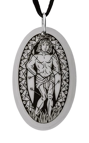 Touchstone - Colgante de Porcelana Ovalada de San Sebastián ...