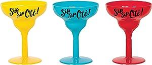 amscan Tricolor Margarita Plastic Shot Glass - 6pc / 15.2oz