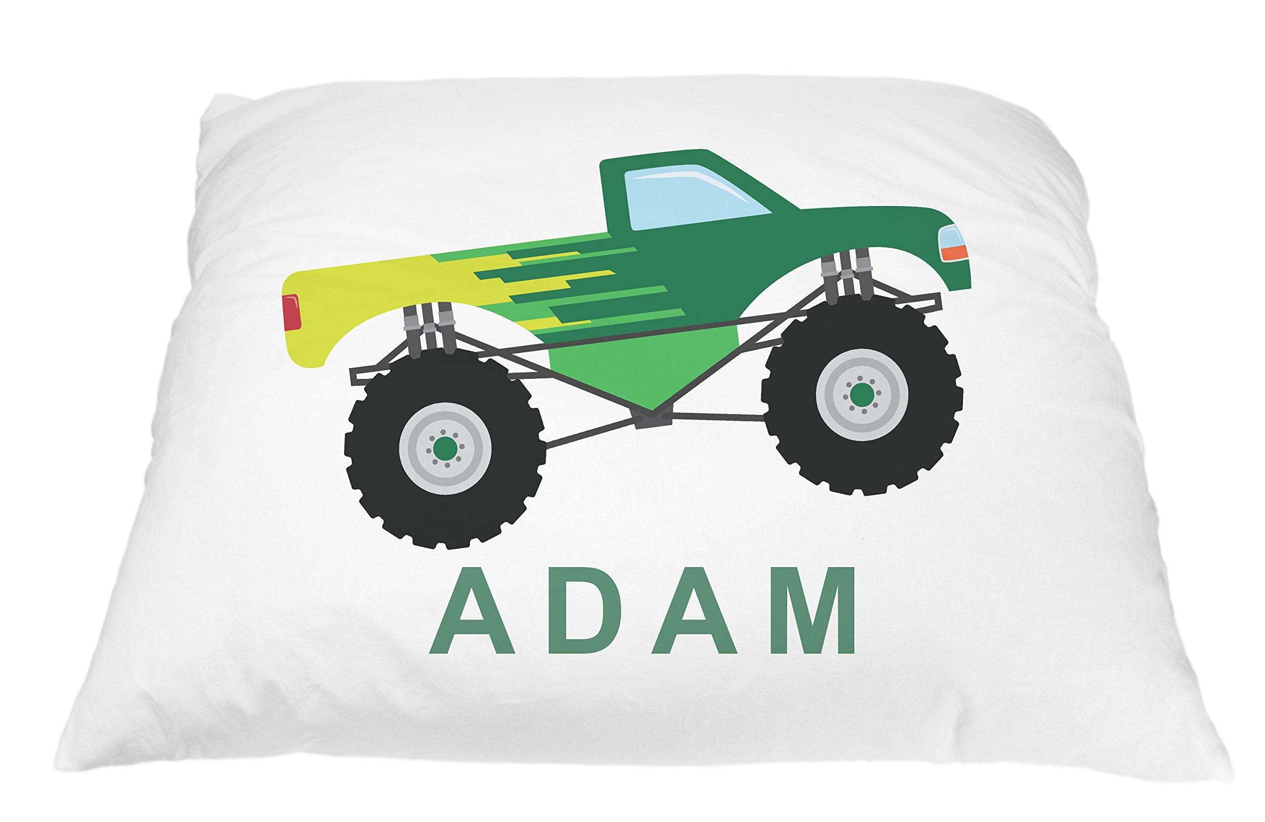 Monster Truck Personalized Kids Pillowcase, Truck Pillow, Toddler Pillowcase, Truck Pillowcase, Best Toddler Pillow, Monster Truck Pillow Microfiber Pillowcase 20x30 Inches (Green)