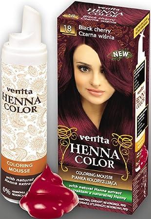 Venita Henna Color Coloring Mousse Schaumcoloration Servicepackung Schwarzkirsche Black Cherry Nr 18