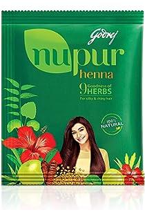 Amazon Com Godrej Nupur Henna Natural Mehndi For Hair Color With