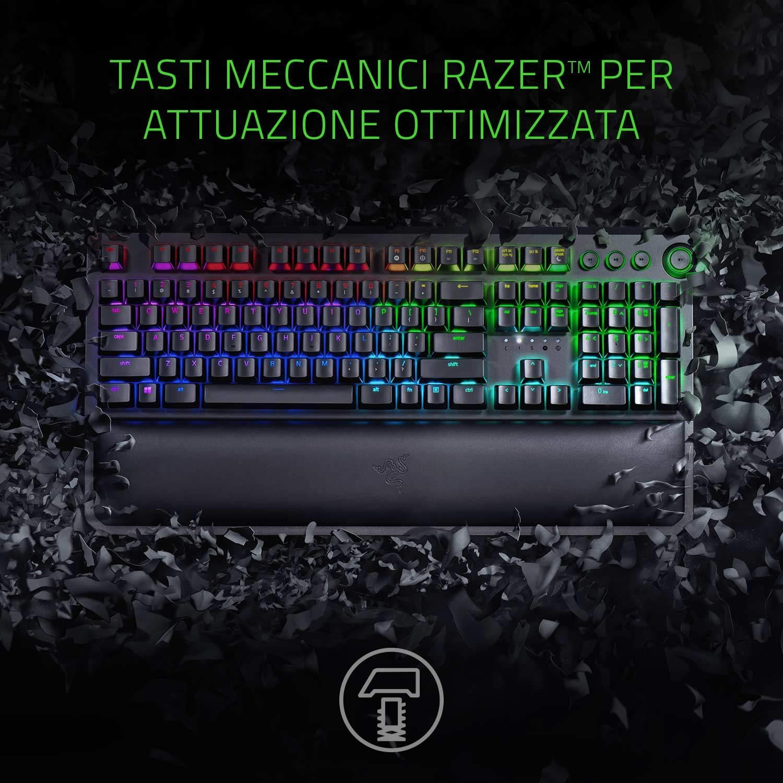Razer BlackWidow Elite USB QWERTY Italiano Negro - Teclado (Alámbrico, USB, Interruptor mecánico, QWERTY, LED RGB, Negro): Amazon.es: Informática