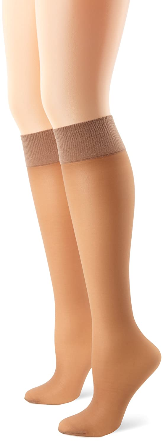 Hanes Silk Reflections Women's Alive Full Support 2 Pack Sheer Knee Highs 0A446