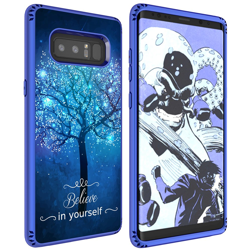 Galaxy Note 8 Case, MagicSky Shockproof Slim Corner Protection with Resilient Shock Absorption Rubber Protective Case Cover for Samsung Galaxy Note8 (2017) 6.3 Inch - Believe in yourself