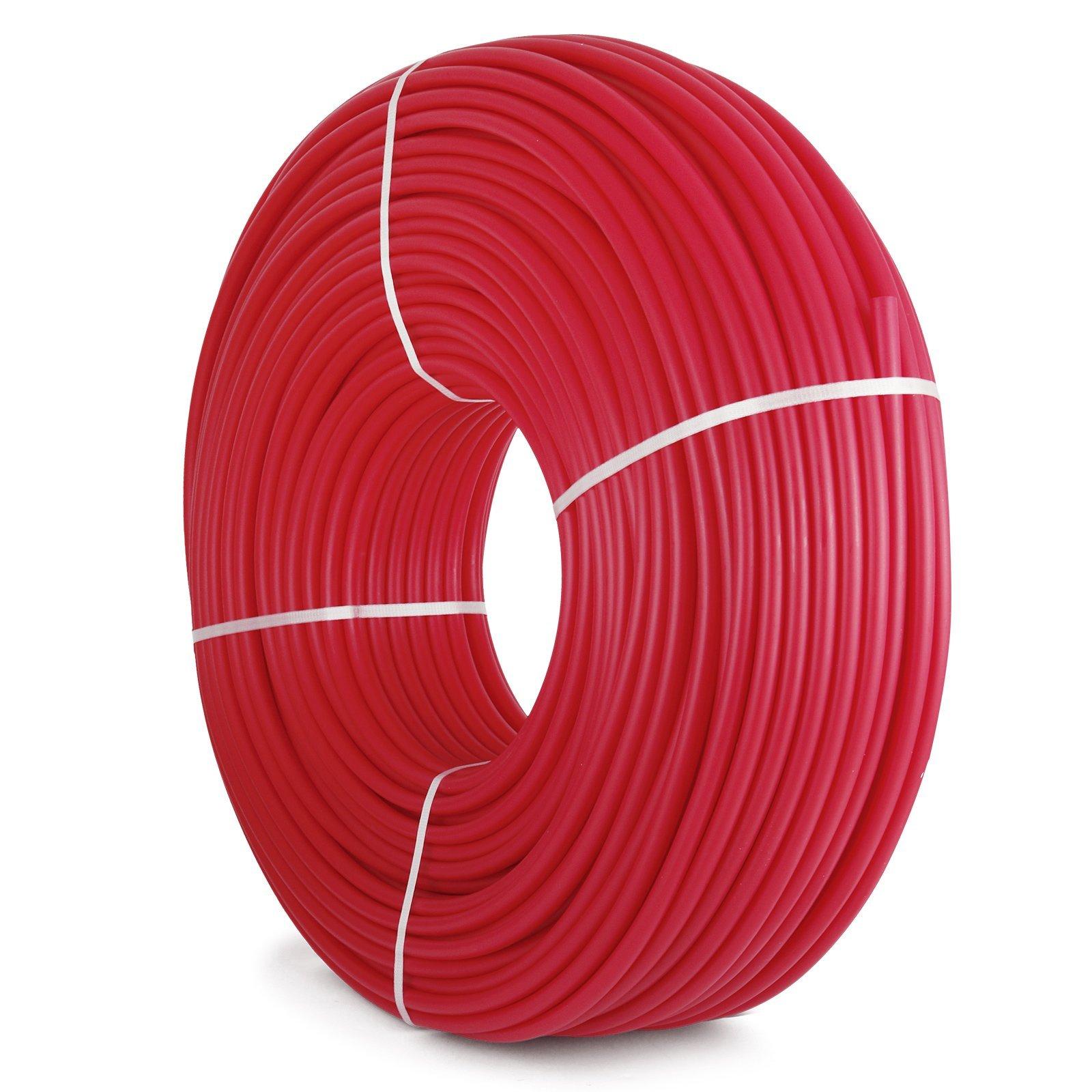 VEVOR 1/2'' x 900ft PEX Tubing Oxygen Barrier O2 EVOH Pex-B Red Hydronic Radiant Floor Heat Heating System Pex Pipe Pex Tube (1/2'' 900ft, Red, Oxygen Barrier)