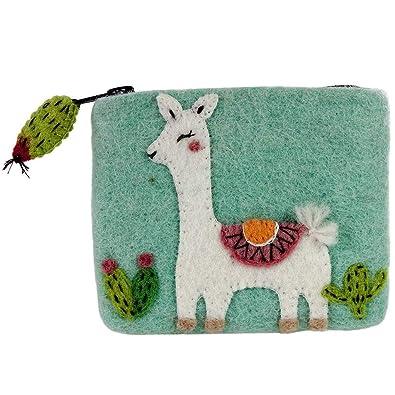 Wild Woolies Monedero de fieltro Happy Llama: Amazon.es ...