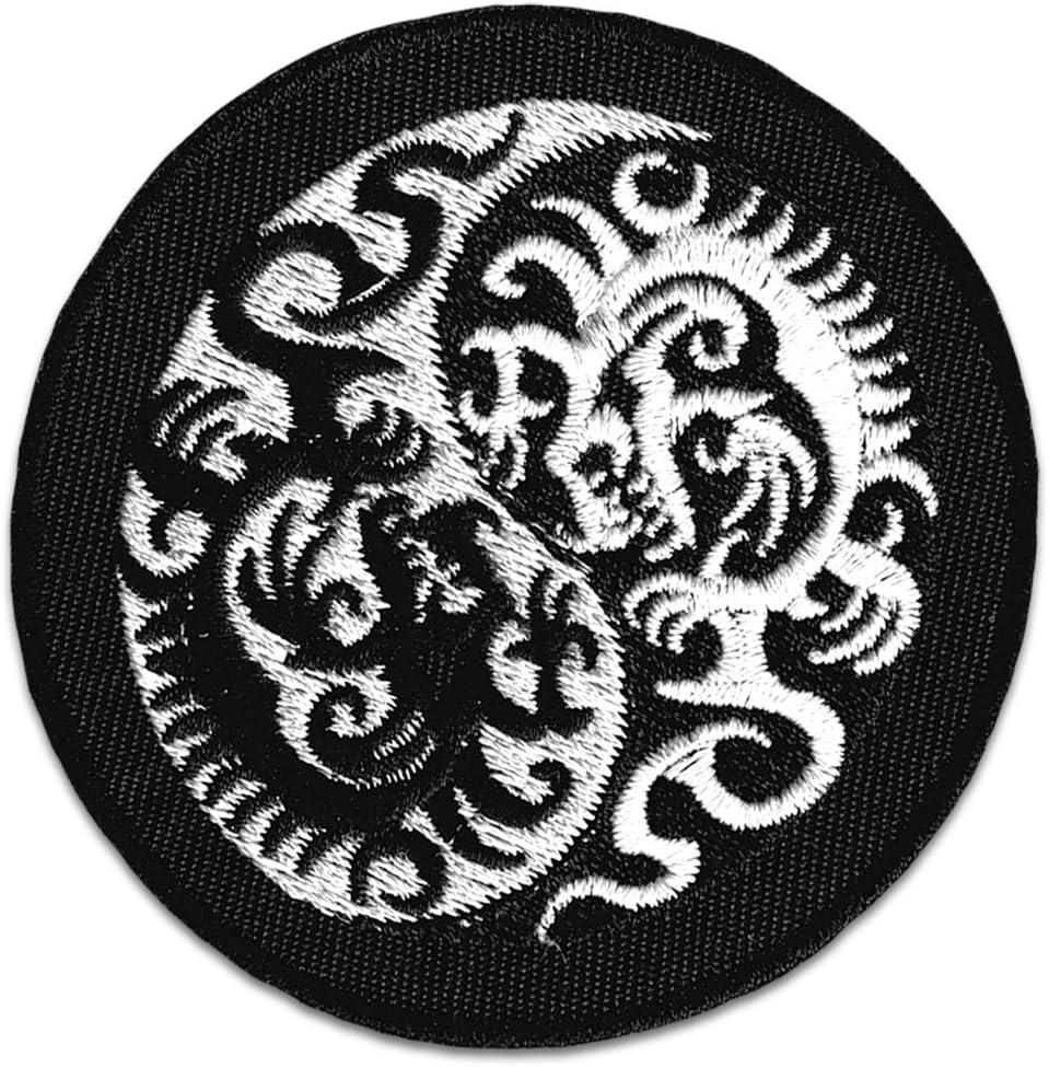 Yin & Yang Dragón parche para planchar Patch Tattoo Japón Deportes ...