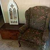 Amazon.com: Funda para sillón con alas de terciopelo ...