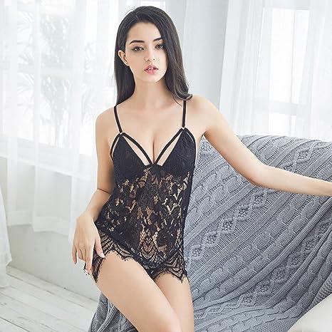 Sex Pijama Tentación Extrema Ligueros Camisón de Encaje Lencería ...