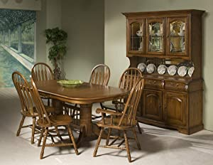 Carefree Home Furnishings Intercon Classic Oak Burnished Rustic 7 Piece Dining Set