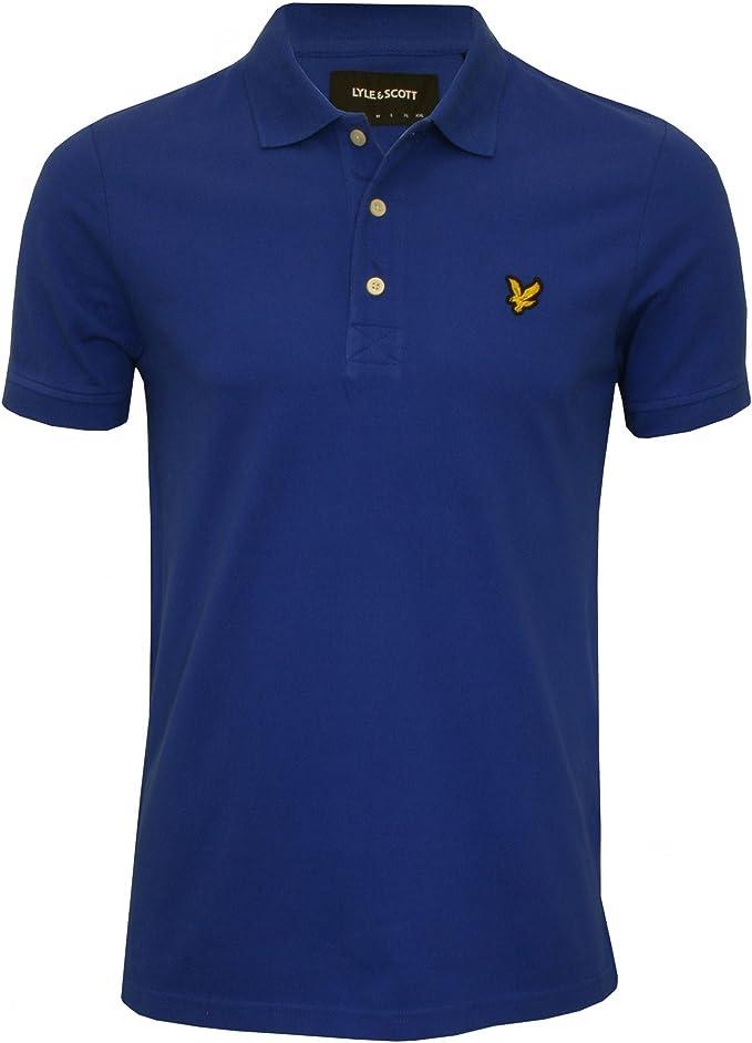 Lyle /& Scott Boy/'s Hand Drawn Polo Shirt Blue 10-11 Years Duke Blue