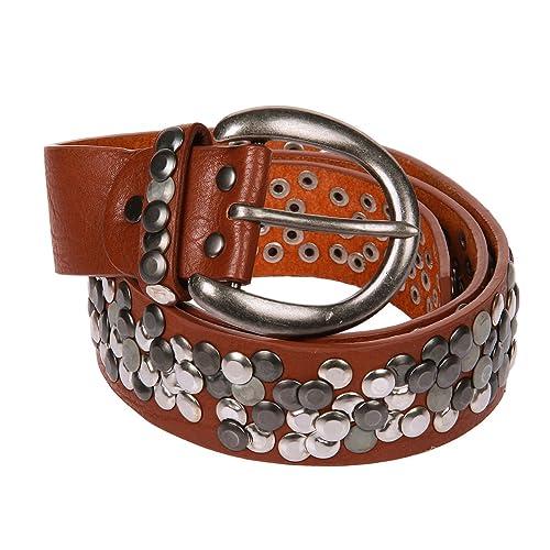 Kossberg–Cinturón para mujer funda de piel con tachuelas 55788