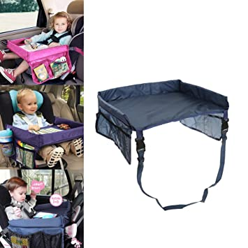 car tray table for kids waterproof adjustable safety belt drawing board buggy travel pushchair childrens car