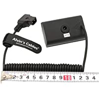 Alvin's Cables NP F550 Dummy Battery to D Tap Coiled Power Cable for Sony NP F570 NP F970 Monitor