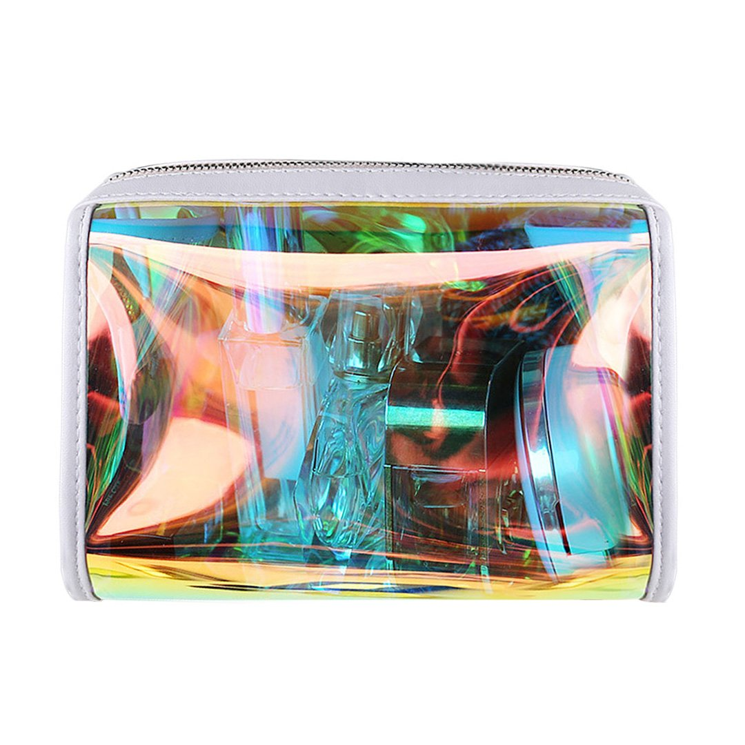 e4f87cf19f94 Amazon.com: BORN PRETTY Transparent Makeup Bag Rainbow Clear ...