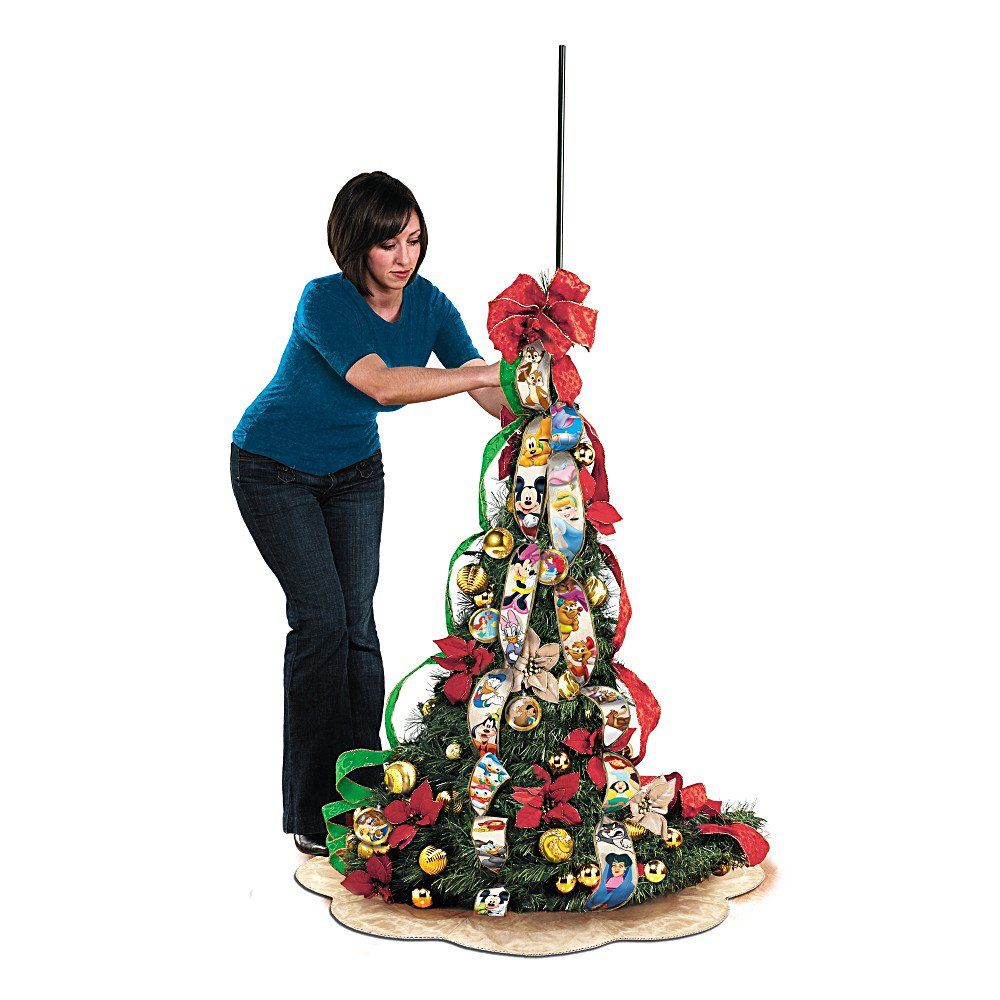 ultimate disney wondrous christmas pre lit pull up christmas tree by the bradford exchange amazoncouk kitchen home - Pull Up Christmas Tree