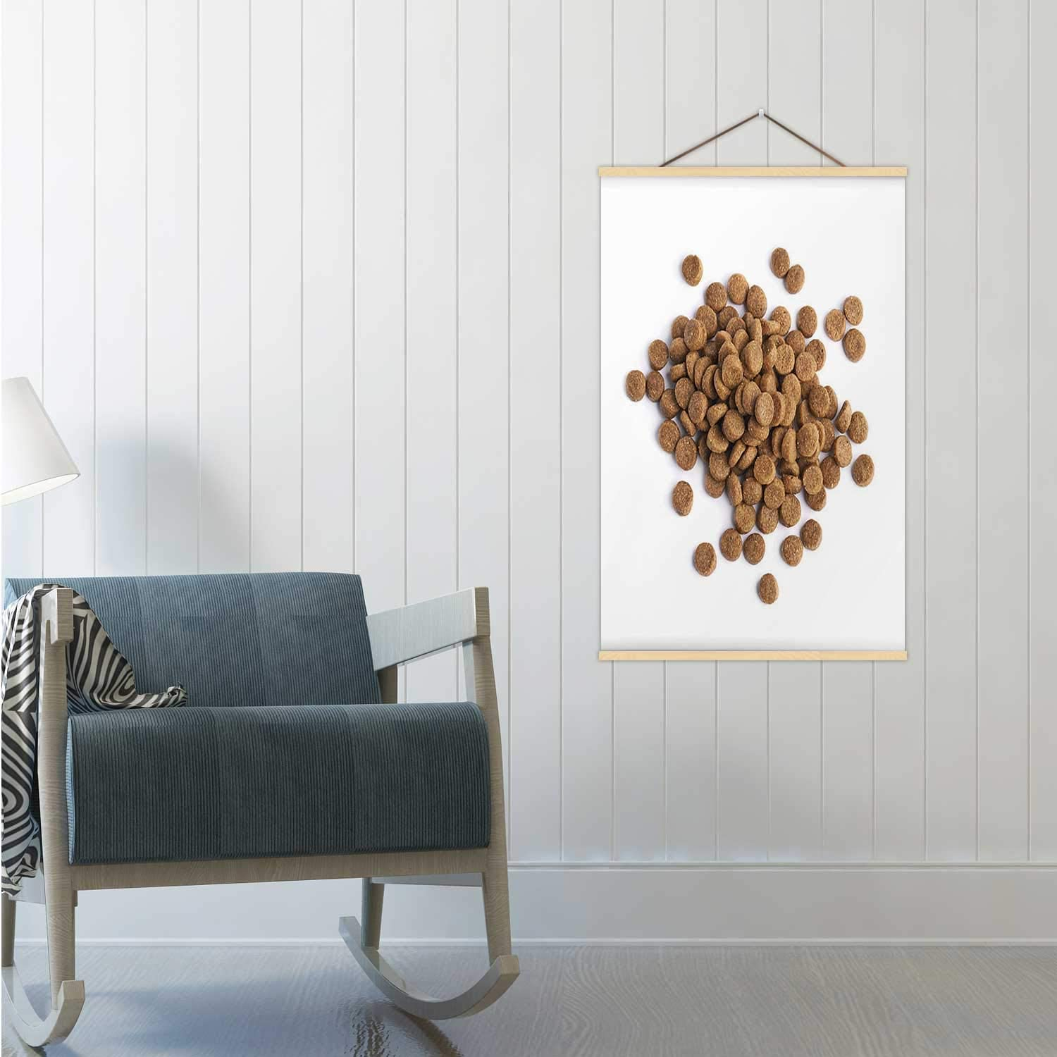 Pile of Dry pet's Food Croquette,Poster Dog Poster Frame 24x35in(WxH)