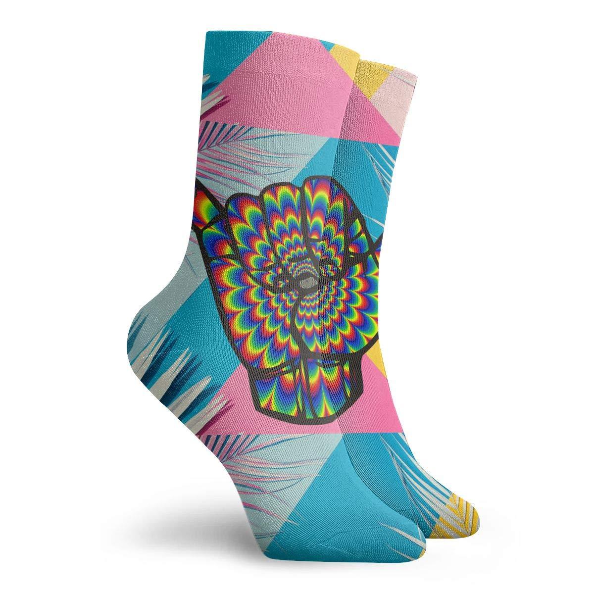 Shaka Sign Fashion Dress Socks Short Socks Leisure Travel 11.8 Inch