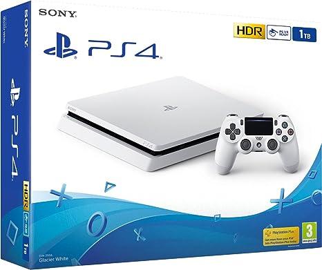 PS4 Slim 1Tb Blanca Playstation 4 - Consola 1TB, Blanca, Slim ...