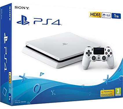 PS4 Slim 1Tb Blanca Playstation 4 - Consola 1TB, Blanca ...
