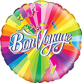 Bon voyage map helium foil balloon 18 travelling leaving party bon voyage map helium foil balloon 18quot travelling leaving party decoration gift gumiabroncs Choice Image
