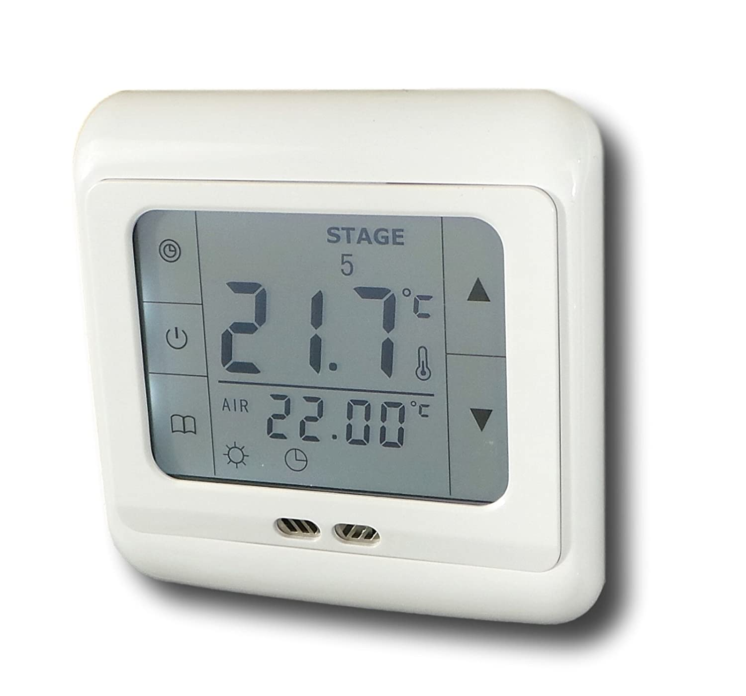SM-PC®, 24V Raumthermostat Thermostat programmierbar Touchscreen ...