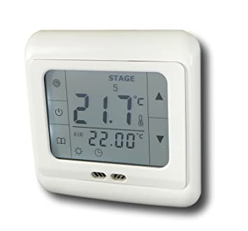 SM-PC, termostato programable pantalla Digital con iluminación blanca circuito muerto abierto
