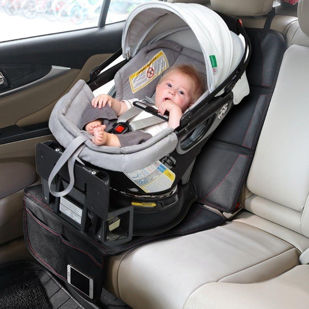 IREGRO Coprisedile Auto Ideale per Bambini//Beb/è//Animali per Proteggere la tappezzeria in Pelle del Veicolo