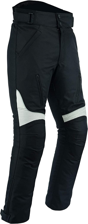 Black Red, Waist 38 Leg 30 Sterling Sports/®Men Textile Waterproof Motorbike Motorcycle Thermal Armoured Trouser Cargo Pant Black Cameo Grey Green
