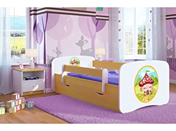 Kinderbett häuschen  CARELLIA 'Kinderbett Häuschen 70 cm x 140 cm mit Barriere ...