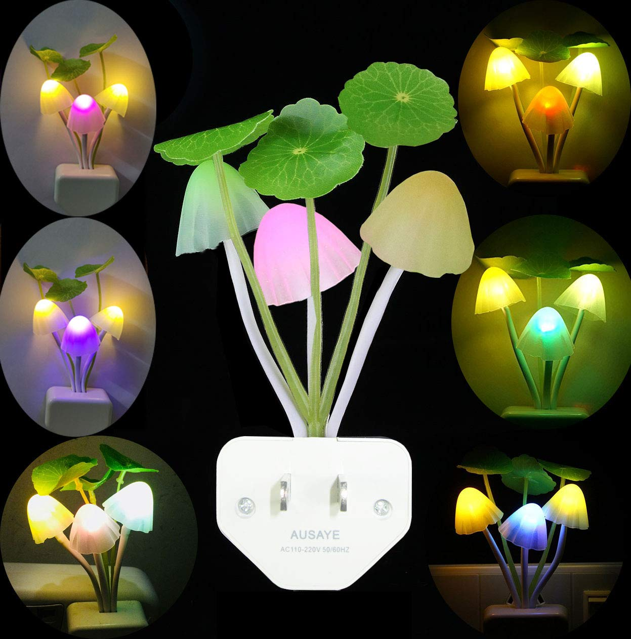 Romantic 7Color Changing Mushroom Light LED Lamp Bedroom Night Light Kids Gift