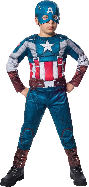 Captain America Winter Soldier Superhero Fancy Dress Up Halloween Child Costume