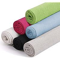 Linen Needlework Fabric, Kissbuty 6 Colors Linen Fabric Cloth for Garment Craft Flower Pot Decoration Embroidery Cross…