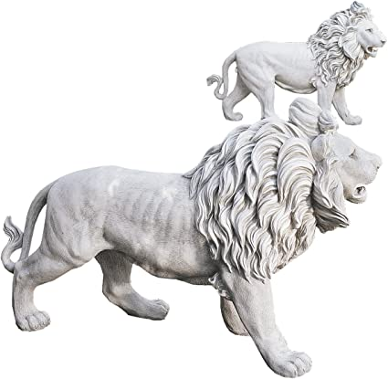 Amazon Com Design Toscano Regal Lion Sentinels Of Grisham Manor St Statues Garden Outdoor