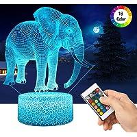 LED Lámpara de Mesa 3D Elefante con Control
