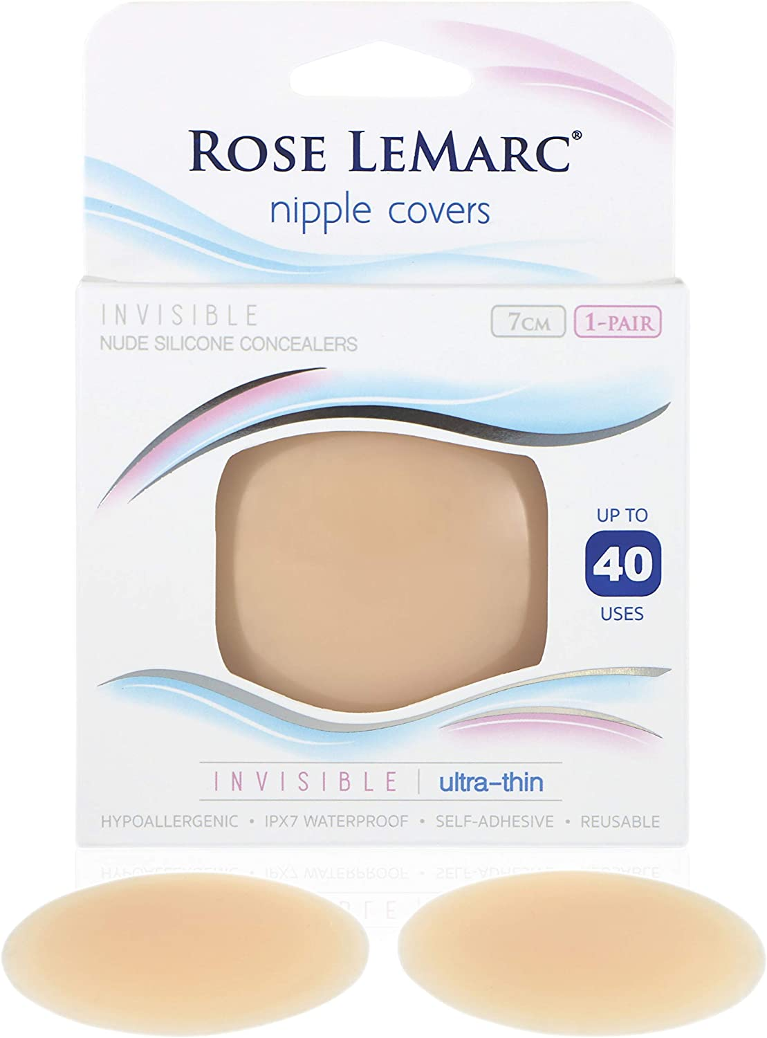 Rose LeMarc Invisible Nipple Covers Super Ultra-Thin Silicone Pasties Women Nude