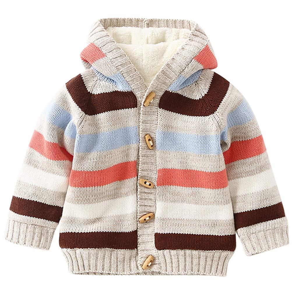 ARAUS Bebé Jacket Coat Cardigan Bebé Invierno Abrigo con Capucha Hoodie Sweaters para Niños de 0-4 años