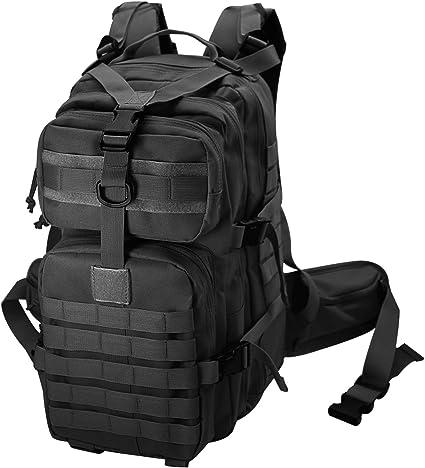 Tactical Backpack 55L Water Resistant Military Army Combat Rucksack Trekking Rucksack MOLLE Camping Hiking Backpack Desert Color