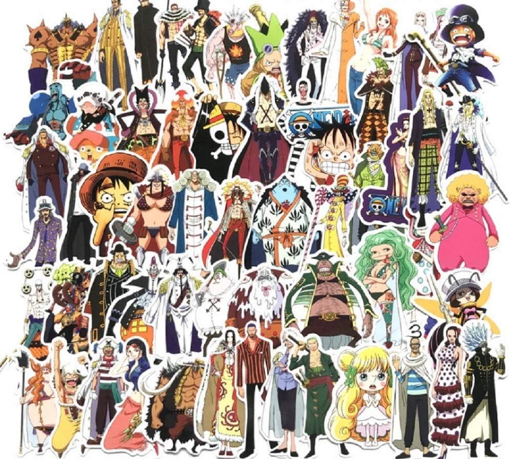135 Adesivi 11thGear Anime One Piece Adesivi per Cellulare Auto Moto Laptop Bagagli Bicicletta Skateboard Frigo
