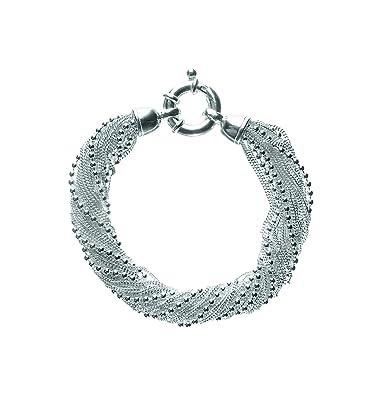 4a01dcad1c Clio Blue Multi-Chain Cuff Bracelet, Sterling Silver 925: Amazon.co.uk:  Jewellery