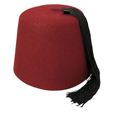 e77ccce8a4c2 Amazon.com: elope Maroon Fez with Black Tassel: Clothing